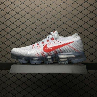 Nike Air VaporMax AIR 耐克 灰白紅 氣墊 編織 休閒運動慢跑 849558-006 男女鞋