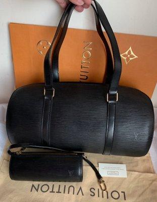 LV 黑色EPI牛皮子母包(🙋小包可單獨使用;另加長鍊斜背,小包也可掛在鍊子上喔!)