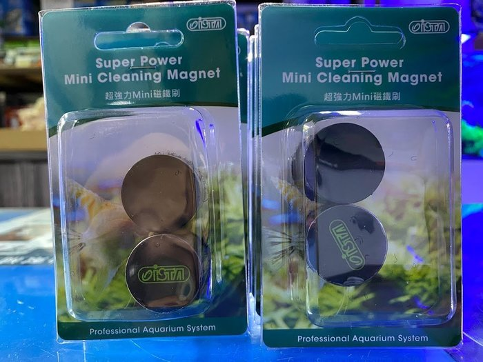 *海葵達人*I-872台灣精品ISTA伊士達《超強力 MINI 磁鐵刷》迷你型,魚缸清潔刷、磁力刷、磁刷