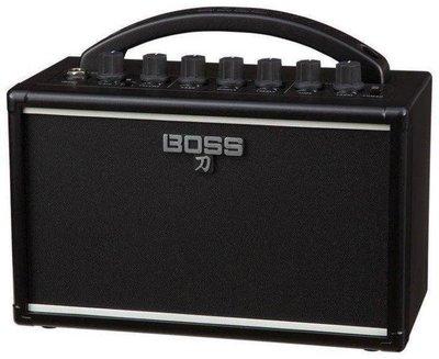 ☆唐尼樂器︵☆免運 Boss 刀 Katana-Mini 7瓦 電吉他  旅行 小音箱 可接耳機 可裝電池 內建效果器