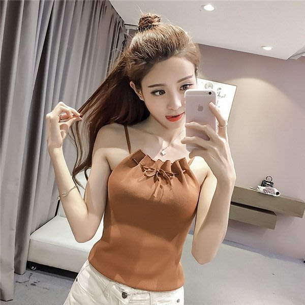 【現貨+預購R】2017夏季女裝背心針織衫小吊帶