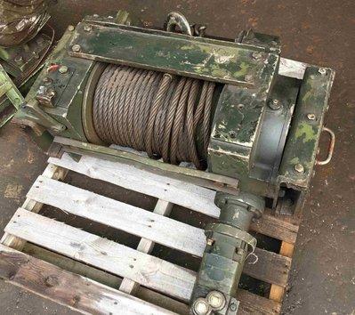 (美規絞盤)日本油壓絞盤 油壓捲揚機 軍用大型絞盤 拖板車專用(可拖挖土機,大型重機)