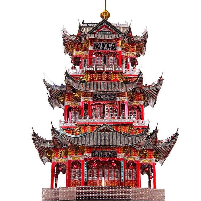 奇奇店-拼酷3D立體拼圖金屬拼裝模型建筑聚遠樓成人高難度手工DIY玩具(規格不同價格不同)