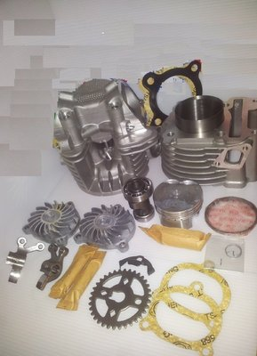 【阿鎧汽缸】勁戰 BWS GTR125 RS100(4V)改58.5MM汽缸組+缸頭(19 21)+凸輪+搖臂大全組