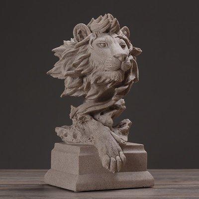 〖洋碼頭〗北歐現代簡約獅子雕塑擺件動物藝術品 家居飾品客廳軟裝工藝品 hbs227