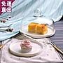 面包試吃盤帶蓋 玻璃蛋糕罩蛋糕展示盤水果盤...