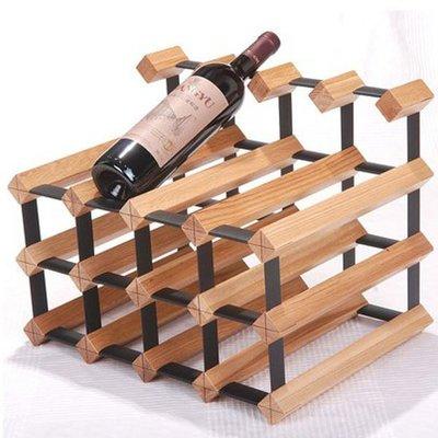 5Cgo【宅神】含稅會員有39154132355 實木酒架實木酒叉紅酒波爾多水曲柳橡木胡桃色木制方形
