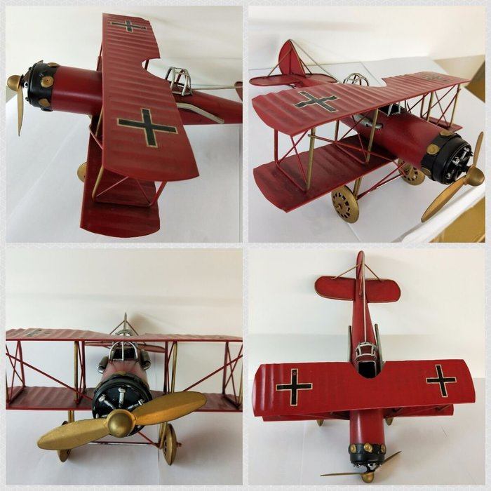 @3C 柑仔店@聖誕 交換 禮物 鐵製 復古螺旋槳飛機 紅 鐵皮 飛機 模型 家居飾品 懷舊  歐式 英國鄉村