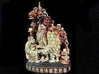 藏雅軒-壽山石雕刻-珍藏老件-紅芙蓉凍石-達摩(三)