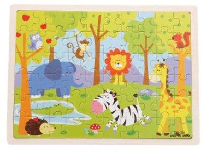 【晴晴百寶盒】木製60片入拼圖 木製拼拼樂 積木 益智遊戲 早教玩具 生日禮物 送禮禮品 CP值高 平價促銷 A141