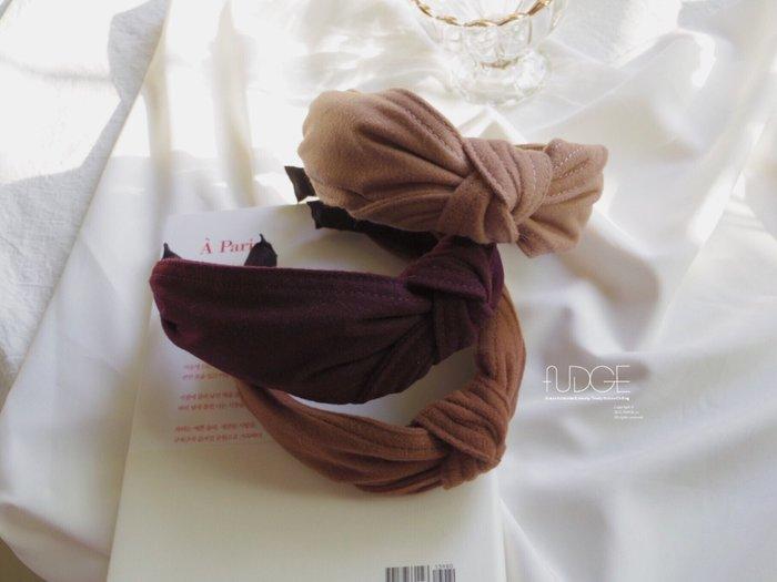 FUDGE法橘 / 正韓 溫暖色調素面單結髮箍/LH181231