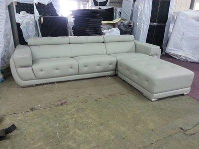 DL-01 半牛皮L型沙發/大台北地區/系統家具/沙發/床墊/茶几/高低櫃/1元起