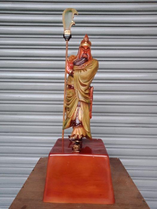 鄉之偶木器工藝館~~2呎2 武聖關公 樟木雕刻