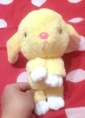 全新可愛黃色兔身長約25公分裝死兔