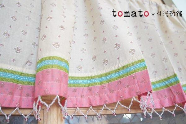 ˙TOMATO生活雜鋪˙日本進口雜貨棉質層次花朵圖樣門簾