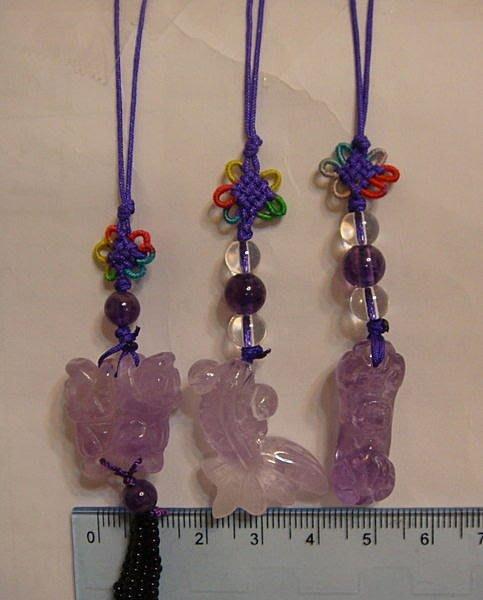 【佳樺轉經輪吊飾】天然玉石天然紫晶年年有餘、如意、貔貅吊飾玉石吊飾開運吊飾團購批發