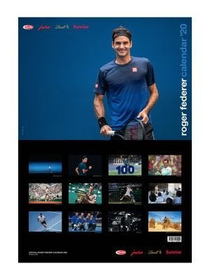 【T.A】費德勒 2020 RF 基金會官方版 年曆 月曆 Roger Federer Calendar