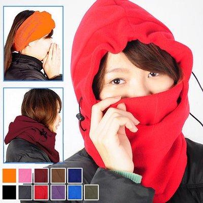 哪裡買⊙全罩式防風防寒保暖頭套面罩E010-01自行車脖圍套頭巾騎機車保暖帽滑雪頸套推薦