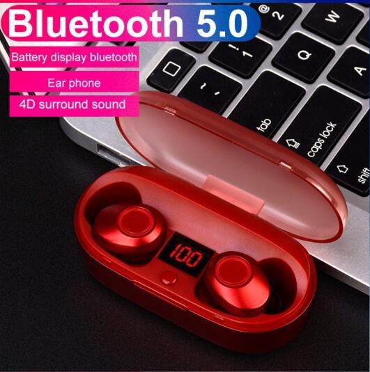 tws雙耳通話真無線J29藍牙5.0耳機 入耳式耳塞式 充電收納倉顯示電量運動耳機 超強續航 HIFI音質 降噪#697