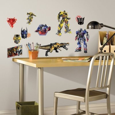 【KIDS FUN USA】RoomMates 變型金剛4:絕跡重生 Transformers4 防水DIY重複貼/壁貼