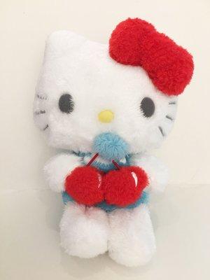 ^燕子部屋 ^三麗鷗正版【Hello Kitty】毛絨娃娃-櫻桃甜蜜