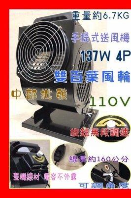 『超優惠』手提式擺攤用電風扇 超強風4...