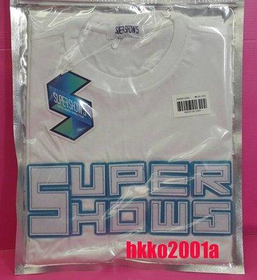 SJ [ 短袖 衣服 (白L號) ] 現貨在台 Super Junior 官方週邊 世巡 演唱會 T恤 T-shirts