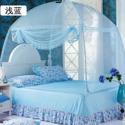 特惠❧學生蒙古包蚊帳三開門有無底1.5m1.8m1.2m床支架拉鏈學生宿舍單人雙人 米米旗艦店