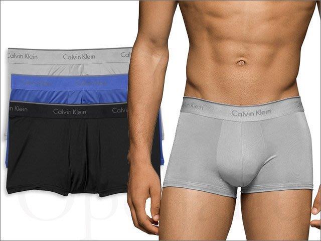 Calvin Klein CK卡文克萊男內著灰藍黑三件一組MICRO超纖維平口褲四角褲S M L XL號愛Coach包包