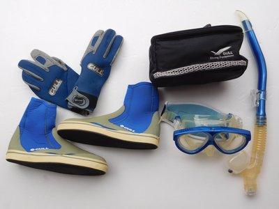 GULL MANTIS 面鏡+套鞋+呼吸管+手套4件組