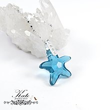 銀飾純銀項鍊 swarovski水晶 極地海星 印度藍彩 925純銀寶石項鍊 KATE生日禮物情人禮物/KATE銀飾