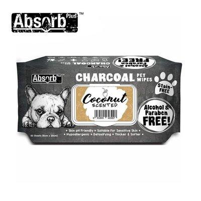 SNOW的家【訂購】Absorb Plus 寵物用活性碳濕紙巾 6種香味-椰子香 (11090044