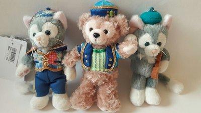 日本Disney正品 Duffy與他的朋友畫家貓玩偶掛件【單只售】