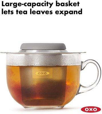 OXO 不銹鋼濾茶器 細目 BREW Tea Infuser Basket 矽膠保護蓋