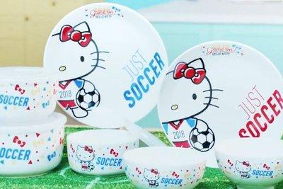 台灣 全聯 HELLO KITTY 世界盃《足球聯萌》碗 碟 保鮮盒
