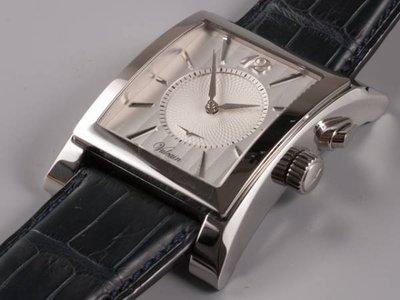VULCAIN CRICKET  窩路堅 方型大錶徑/ 銀白色面鬧鈴錶 *已交誼*