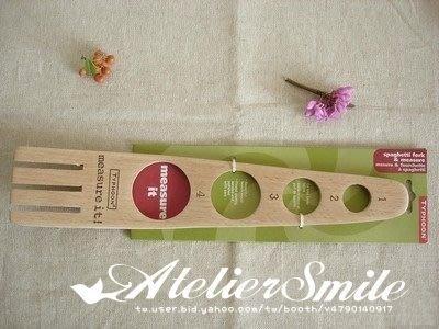 [ Atelier Smile ] 鄉村雜貨 歐洲進口櫸木 烘焙廚房專用 櫸木量麵器 意大利麵條叉 (現貨)
