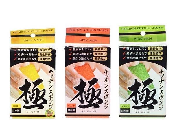 【JPGO】預購-日本製 -極- 廚房清潔海綿刷 菜瓜布~綠色#833 /黃色#826 /橘色#810
