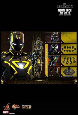 全新現貨 Hot Toys Neon Tech Yellow Version Iron Man 2 Mark 6