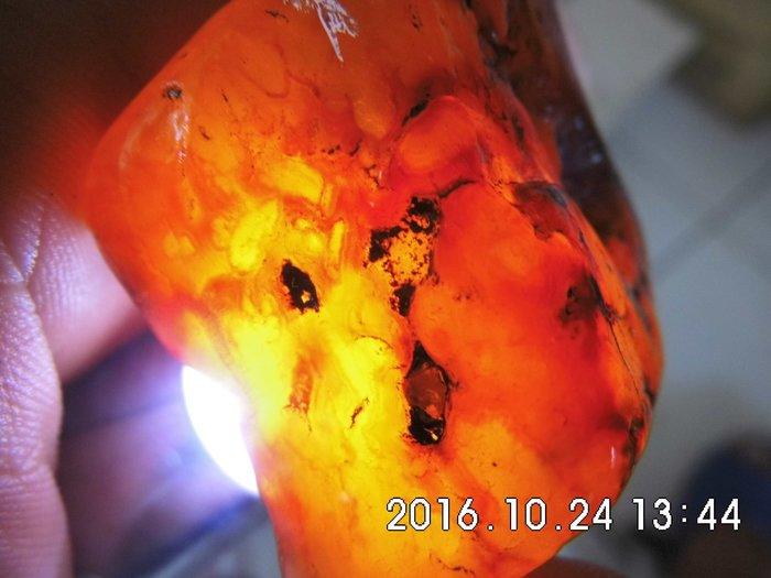 【一元起標】蜜糖紅/天然清透紅玉瓍寶石原礦108公克通透嫣紅→原礦塊料1344