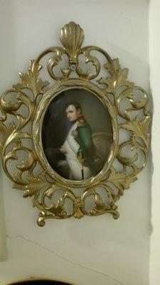 手繪 銅框 瓷畫 拿破崙 賣1萬8