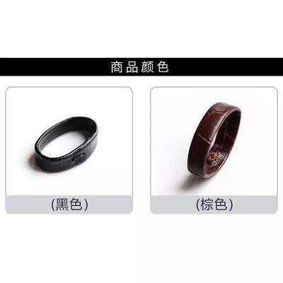 錶帶屋 『獨家銷售』18mm 20mm 22mm黑色 咖啡鱷魚紋皮革錶帶圈錶帶固定環 現貨
