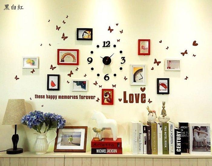 10框兒童童話照片牆小牆面掛鐘相片牆相框牆組合創意