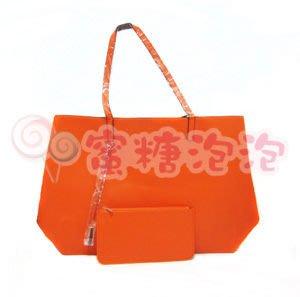 ◎蜜糖泡泡◎CLARINS 克蘭詩 法式橙氛雙面肩提包-附手拿包(零錢包)~特價130元