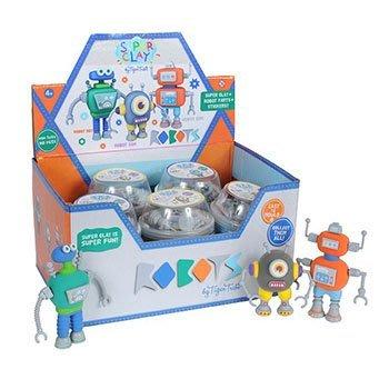【小糖雜貨舖】澳洲 Tiger Tribe 超級泥膠 迷你桶 - 機器人款 (免運)