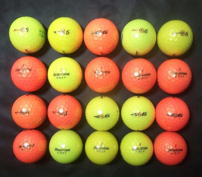 *新威全高爾夫*全面下殺79折~特級9~9.999成新( Bridgestone E6)彩色球三層球(共46顆)