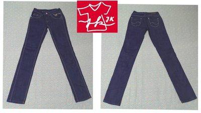 【26腰】專櫃品牌 Lee 牛仔褲 修身彈性 窄直筒-女款-26腰-深藍【JK嚴選】太陽的後裔