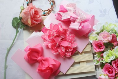 ☆草莓花園☆女童髮帶 女寶寶頭飾 嬰兒頭飾 新生婴兒禮品 滿月周歲拍照髮帶禮盒 套裝11 附精美外盒