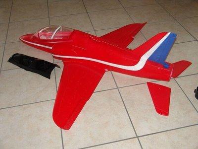 《TS同心模型》 90導風扇 紅箭戰機1465mm紅色塗裝,內附像真避震固定輪組空機套件