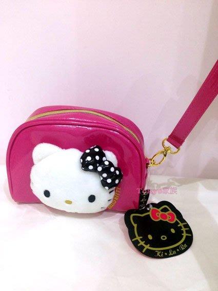 東京家族 Hello Kitty 粉紅化妝包 隨身包 現貨
